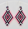 Double Diamond Brick Stitch Earrings Instant Download Pattern