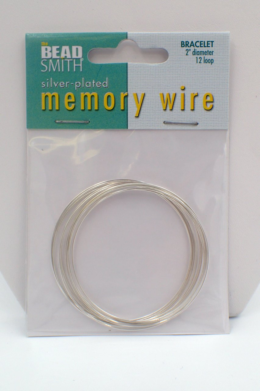2 1/2 diameter 12 loop Memory Wire Silver Plated - Off the Beaded Path