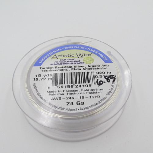 24 Ga. Silver Artistic Wire - 15yds