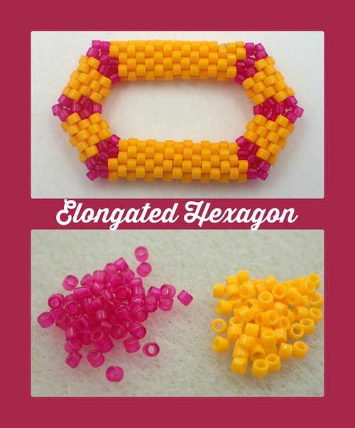 Pink & Orange Elongated Hexagon Kit