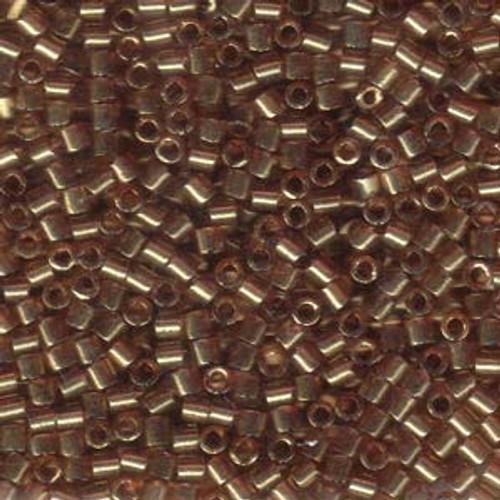 8/0 Transparent Luster Metallic Gold Rose Delica Beads dbl-0115 (8 Grams)
