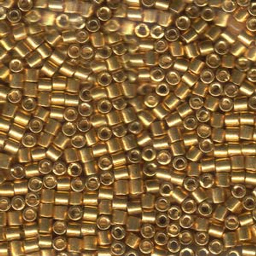 8/0 Galvanized Yellow Gold Delica Beads dbl-0410 (8 Grams)