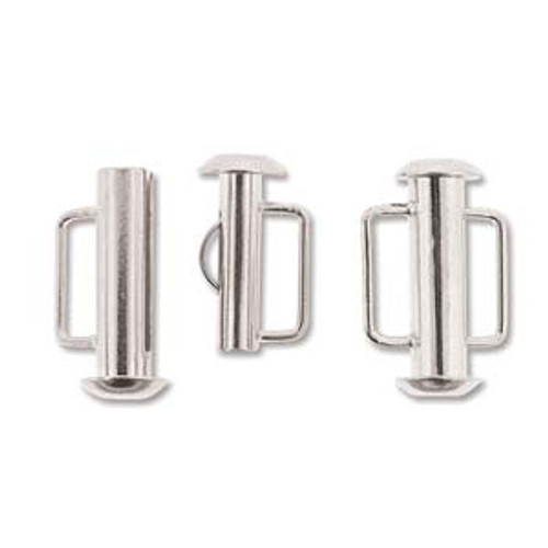 16.5mm Silver Plated Slide Bar Clasp