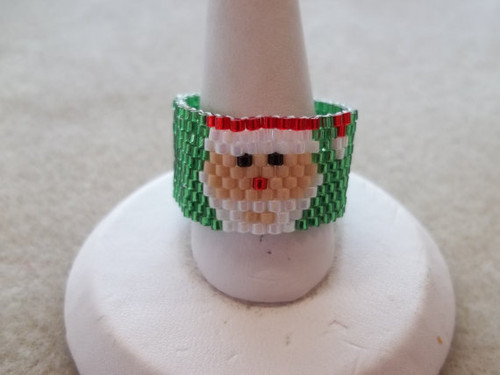Peyote Stitch Large Santa (Graph) Tutorial