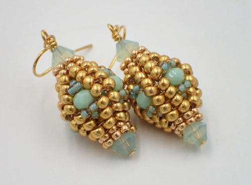Herringbone Lantern Earrings Tutorial
