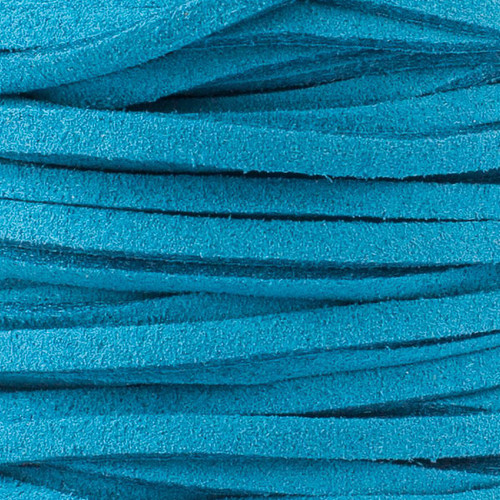 1.5mm thick 2mm wide Ocean Blue Microsuede
