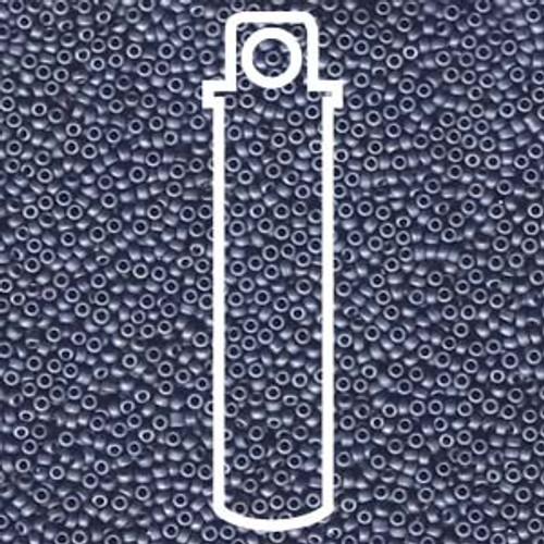 15/0 Matte Metallic Sapphire Blue Miyuki Seed Beads