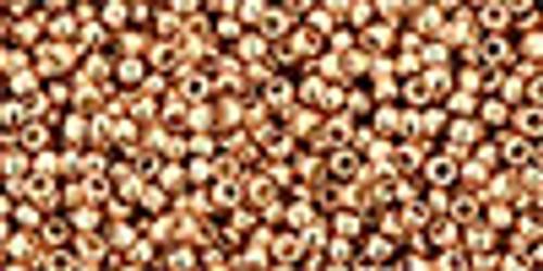 15/0 Toho Permafinish Galvanized Rose Gold