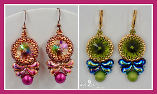 Paisley Drop Earring Instant Download PDF