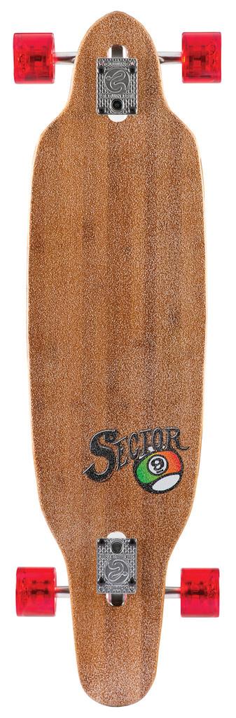 "Sector 9 Striker III Rasta Sidewinder Longboard Complete - 9.5"" x 36.5"""