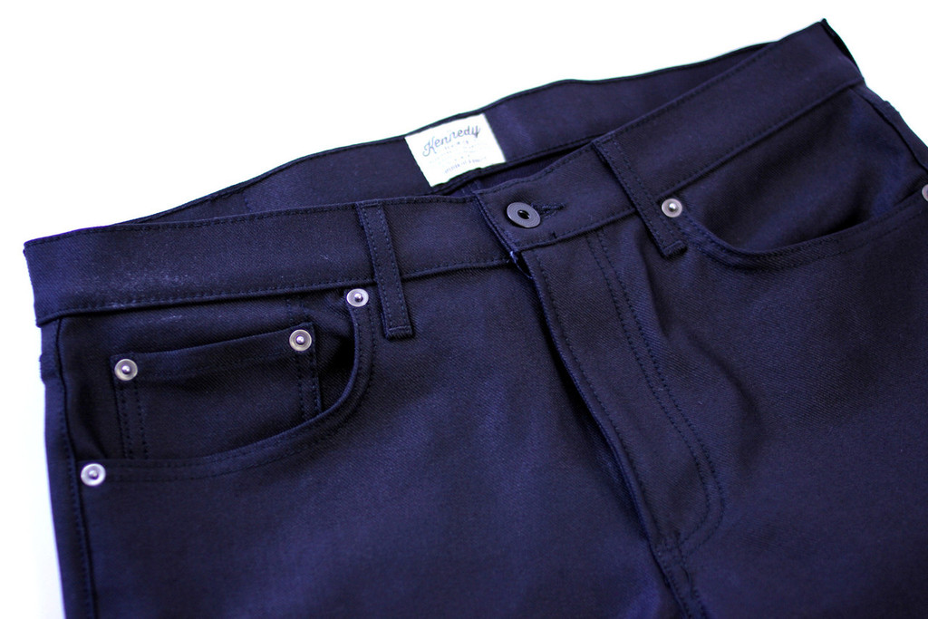 Kennedy Standard Raw Denim Jeans - Glazed Black