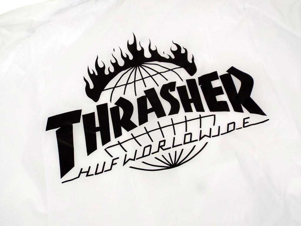 Huf x Thrasher TDS Coach Jacket - White