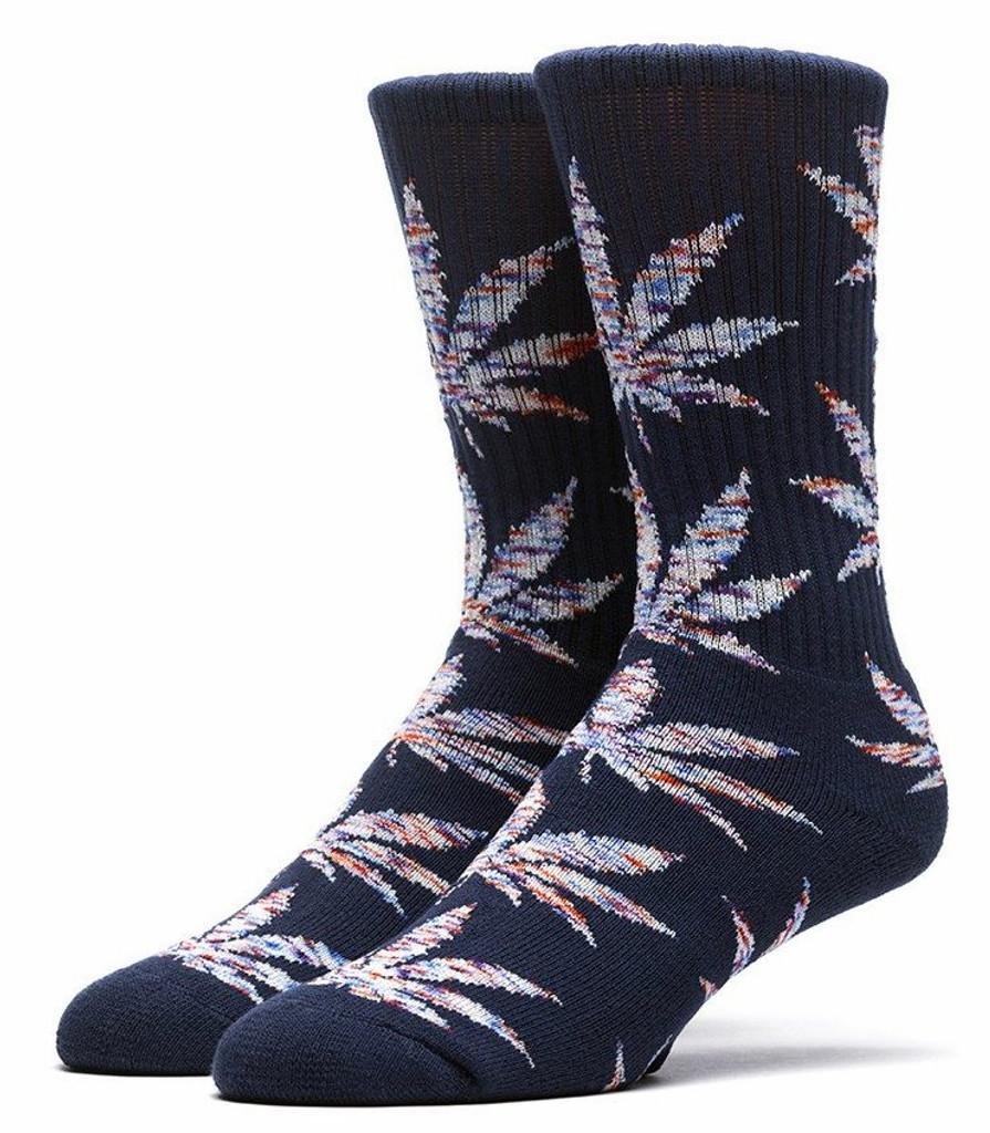 Huf Melange Plantlife Crew Socks - Navy/Blue