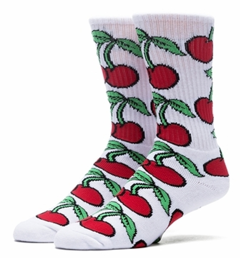 Huf Pop it Crew Socks - White