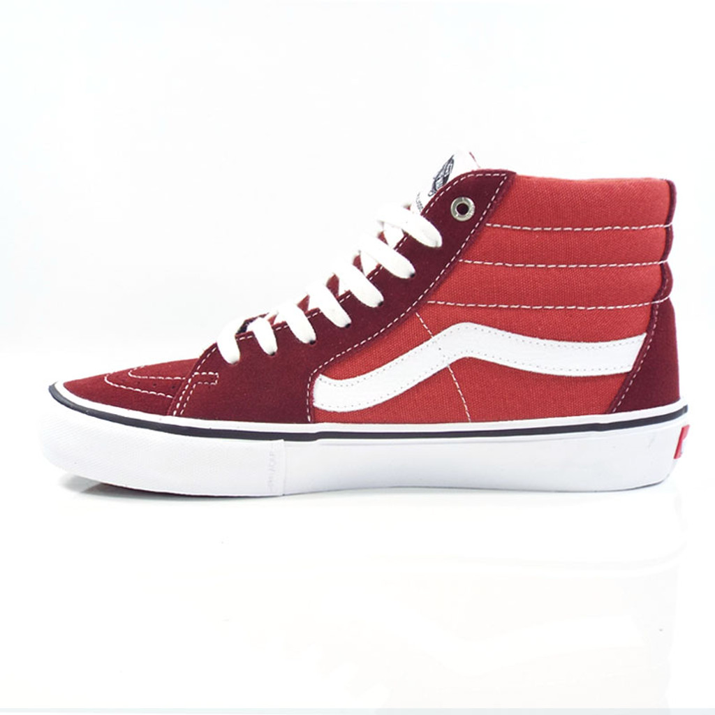 Vans Sk8-Hi Pro Shoes - Madder Brown/True White