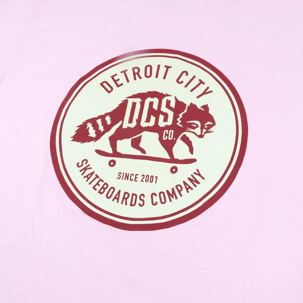DCS New Raccoon Logo T-Shirt - Charity Pink