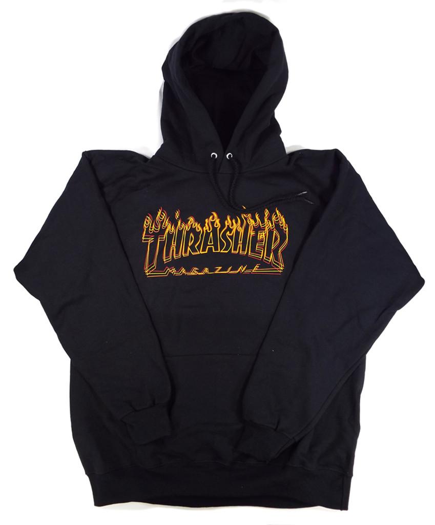 Thrasher Richter Hooded Sweatshirt - Black