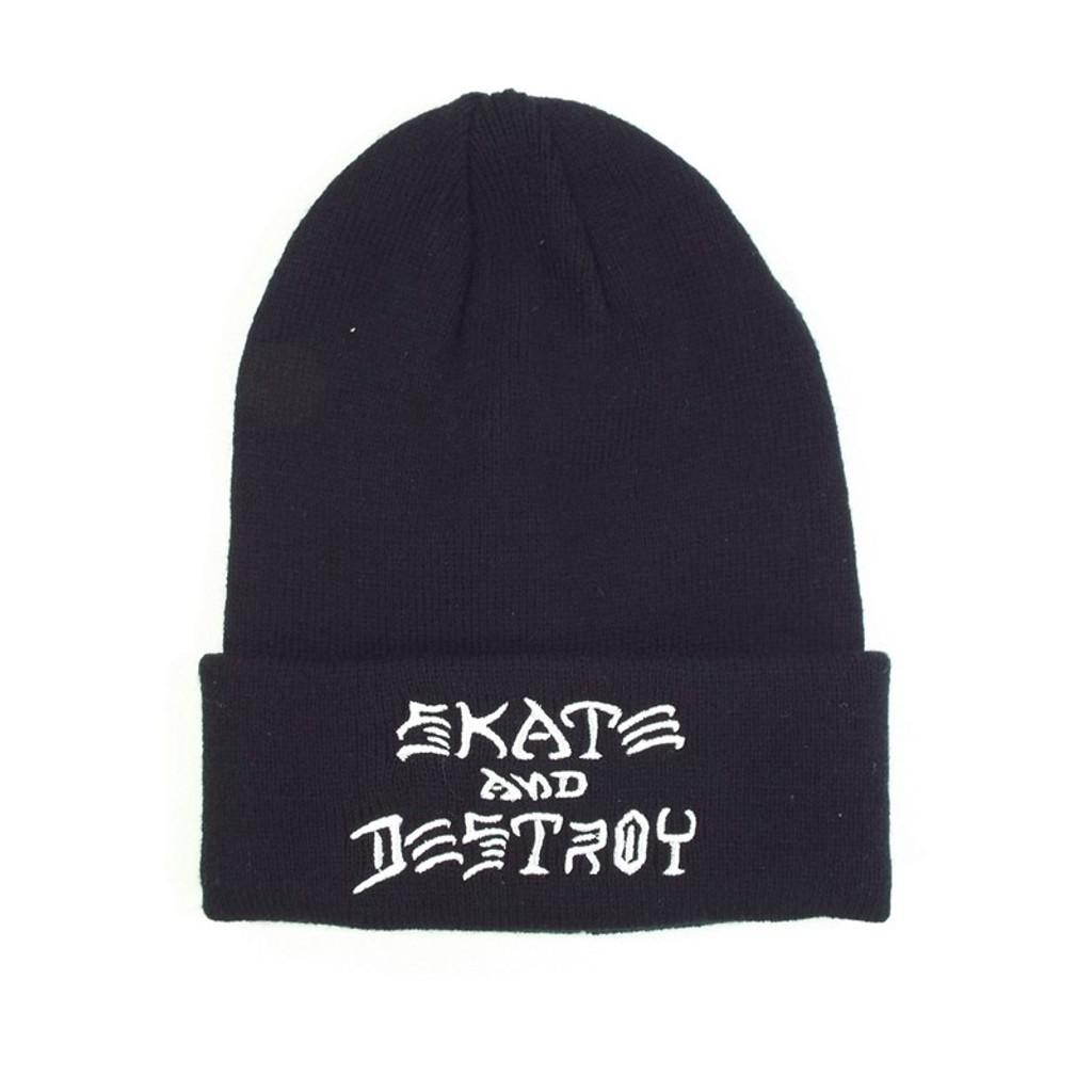Thrasher Skate & Destroy Beanie - Black