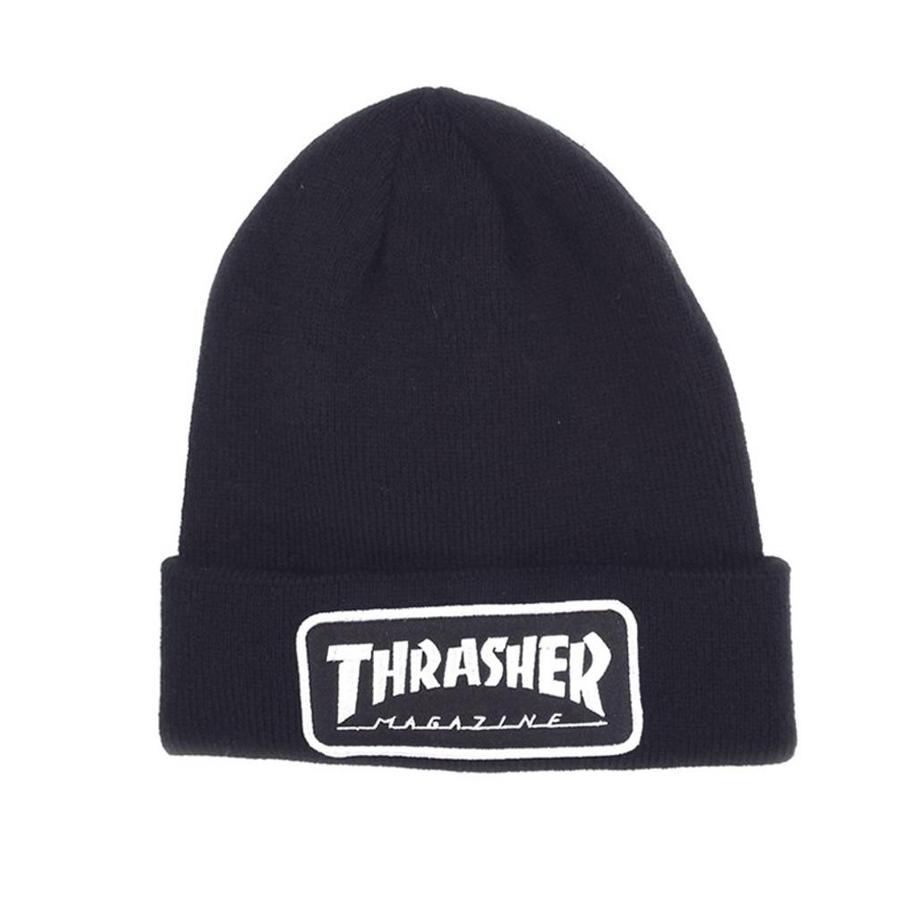 Thrasher Logo Patch Beanie - Black