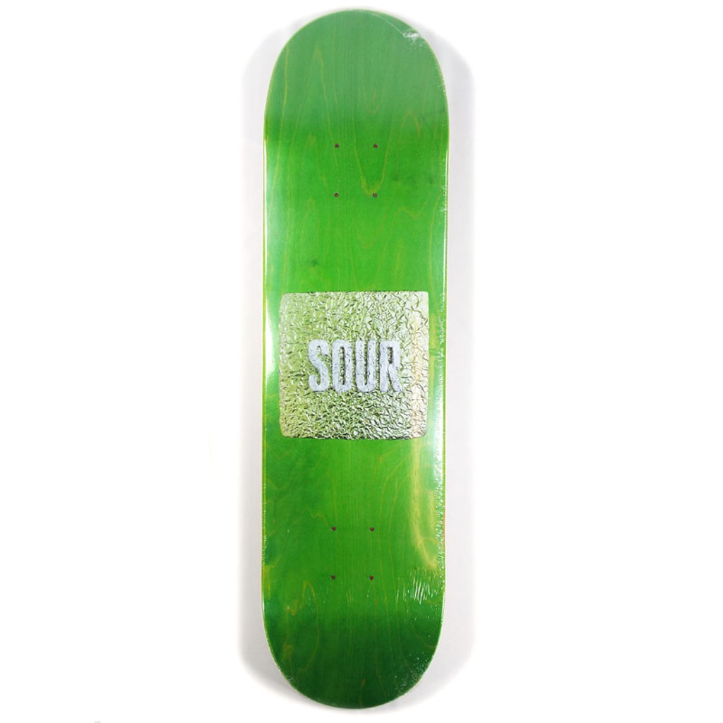 "Sour Foil Green Skateboard Deck - 8"""