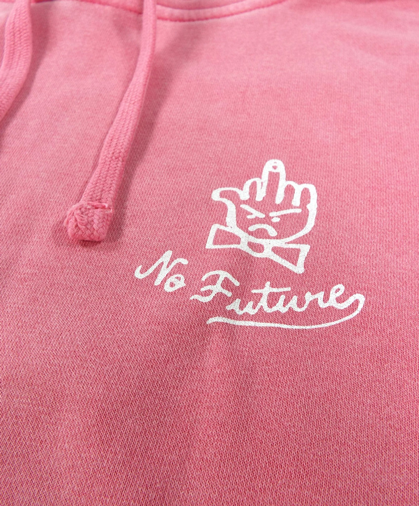 The Quiet Life No Future Pigment Dyed Hooded Sweatshirt - Pink