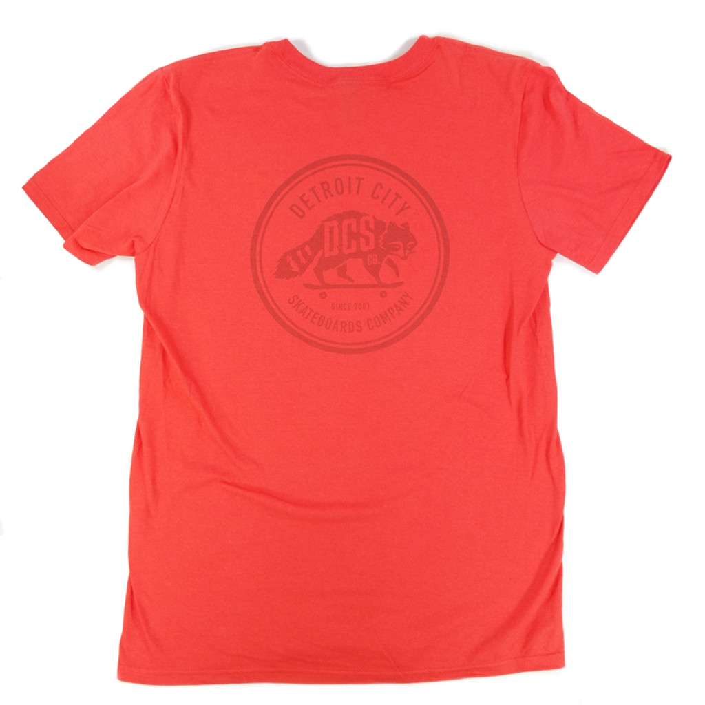 DCS Raccoon Logo Summer Bummer T-Shirt - Coral