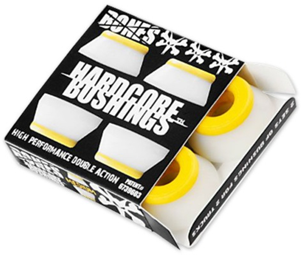 Bones Hardcore Medium Yellow/White Bushings