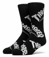 Huf x Thrasher TDS Crew Socks - Black