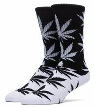 Huf Color Block Plantlife Crew Socks - Black/White
