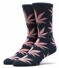 Huf Plantlife Crew Socks - Midnight/Pink