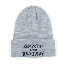 Thrasher Skate & Destroy Beanie - Grey