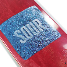Sour Foil Red Skateboard Deck - 8.12""