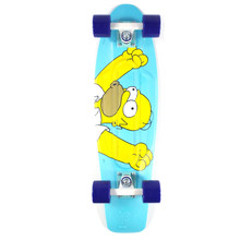 "Penny 27"" Nickel Homer Simpson Teal Skateboard Complete"