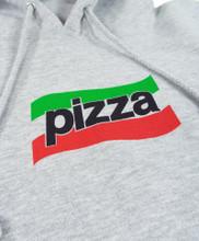 Pizza Spizza Hooded Sweatshirt - Grey