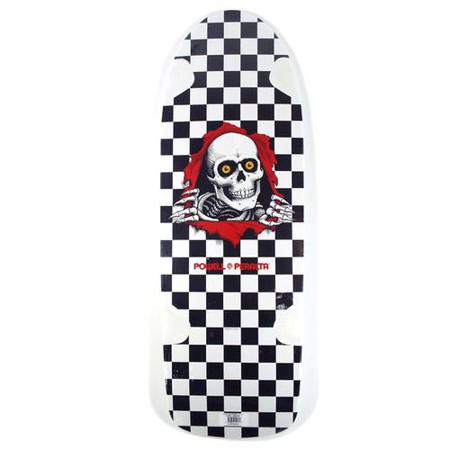 """Powell OG Ripper White/Black Check Skateboard Deck - 10"""""""