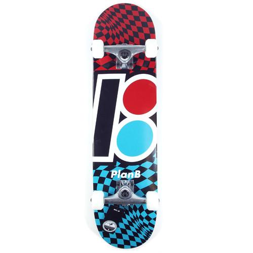 "Plan B Checker Skateboard Complete - 7.85"""