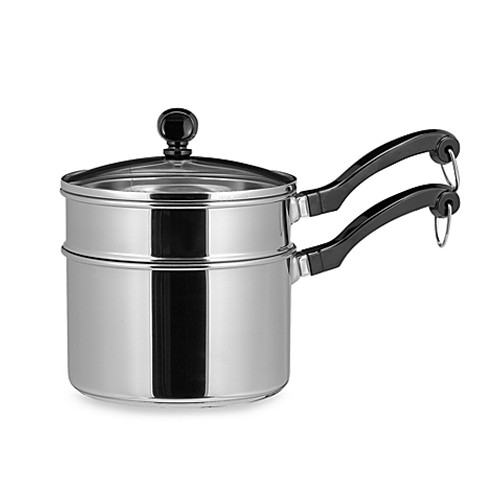 Farberware® Classic Series™ Stainless Steel 2-Quart Sauce Pan with Double Boiler Insert