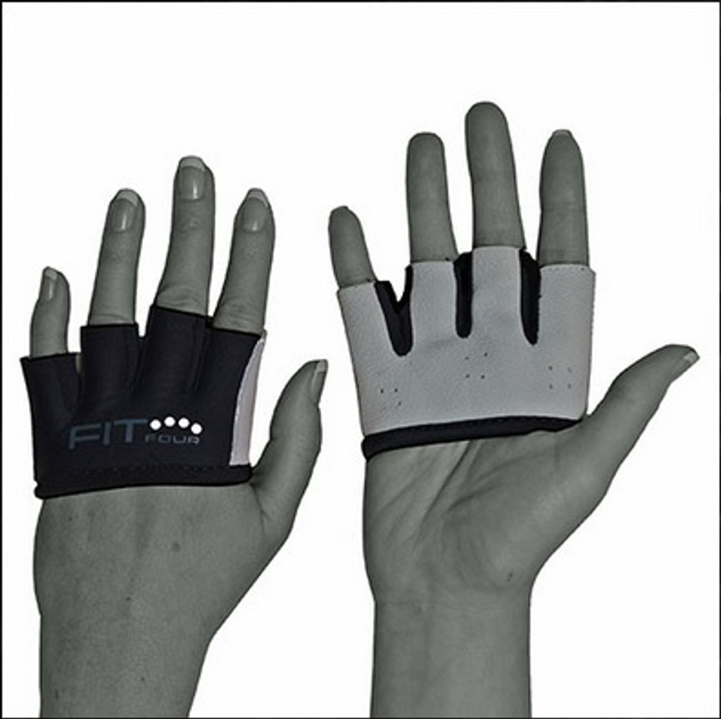 FIT FOUR BLACK AND WHITE IVORY ANTI-RIPPER GLOVES