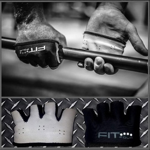 FIT FOUR BLACK AND WHITE IVORY ANTI-RIPPER GLOVES - BARBELL
