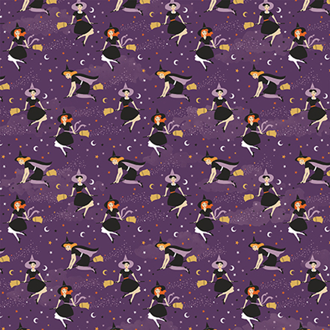 Bewitched Collection Wicked Witches 12 x 12 Double-Sided Scrapbook Paper by Echo Park Paper