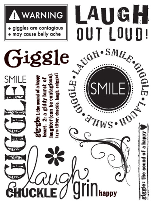 Giggle Clear Stamp Set by Sandylion
