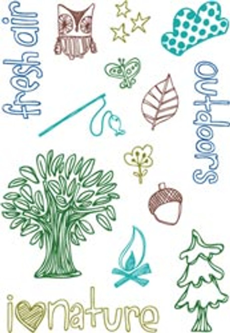 Forrest Collection Icons Clear Stamps Set by KI Memories