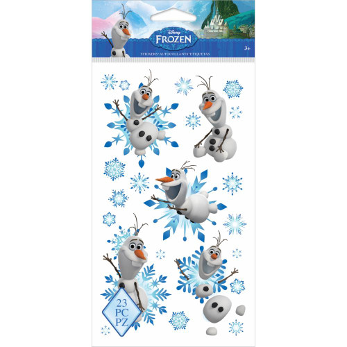 Disney Frozen Collection Olaf Flat Clear Stickers by EK Success