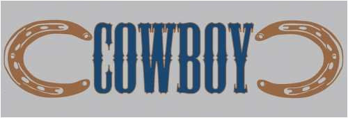 East Meets West Collection Cowboy Rub-On Sheet by Moxxie