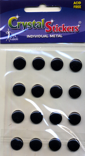 Black 10mm Nailheads Metal Stickers by Mark Richards USA