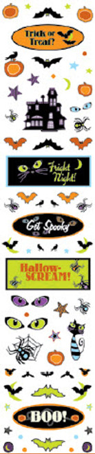 Halloween Fun Collection Clear Sparkle Accent Stickers by Cloud 9 Design