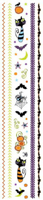 Halloween Fun Collection Clear Sparkle Element & Stitch Stickers