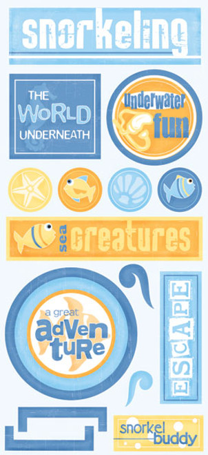 Tropical Collection Snorkeling Stickers by Scrapbook Customs