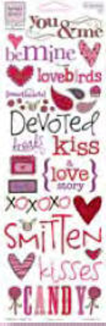 Valentine's Day Collection Words Rub-Ons by Heidi Grace