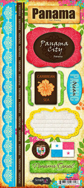 Paradise Collection Panama Cardstock Sticker Sheet by Scrapbook Customs